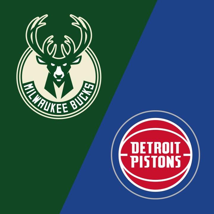 More Info for Milwaukee Bucks vs. Detroit Pistons